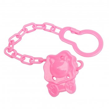 Держатель для пустышки на цепочке, цвет розовый, микс форм
