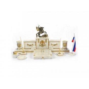 Изумительный набор из белого мрамора георгий-победоносец