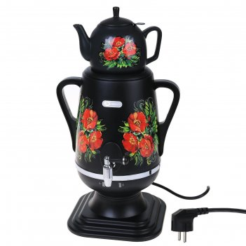 Самовар электрический добрыня do-423, 4 л, черный маки