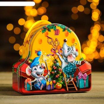 Подарочная коробка вкусный подарок, часы, 17 х 15,4 х 7 см