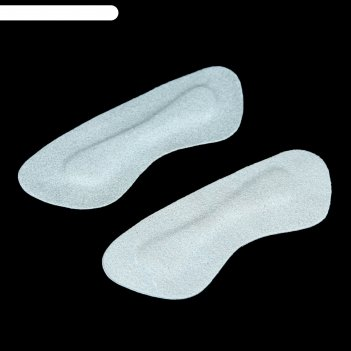 Стельки замшевые для обуви на запятник, цвет серый, 2шт