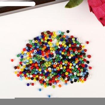 Бисер круглый 12/0 разноцветный 30 гр
