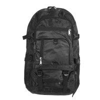 Рюкзак туристический джэк, 2 отд 3 нар кармана 2 бок сетки, чёрный