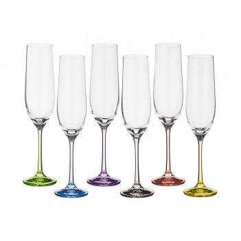 Набор бокалов для шампанского из 6 шт. rainbow 1...