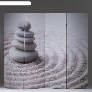 Ширма камни на песке, 200 x 160 см