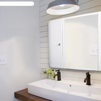 Набор для ванной комнаты hilton premium left, цвет белый