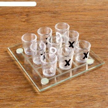 Пьяная игра крестики-нолики: 9 стопок, доска 13x13 см