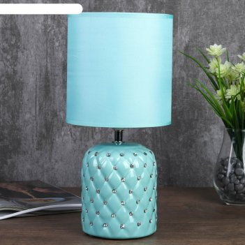 Лампа настольная 7555103tl/1 e14 40вт лазурный 16х16х33 см