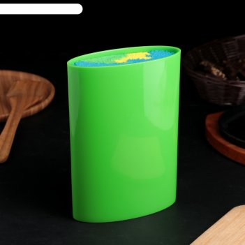 Подставка для ножей палитра, 22х16 см, цвет зеленый
