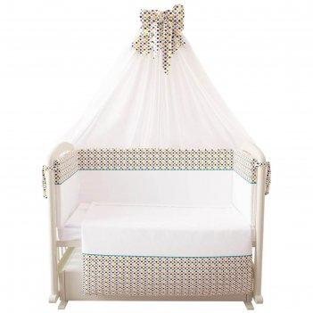 Комплект в кроватку «конфетти», 7 предметов