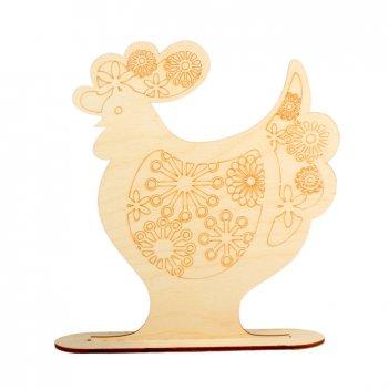 Форма для декора на подставке петух с цветочным ажуром