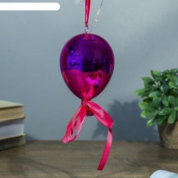 Ночник воздушный шар малиновый от бат в компл 9,5х9,5х15 см