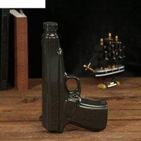 Штоф сувенирный фарфор пистолет макарова 250 мл 4х13х22 см