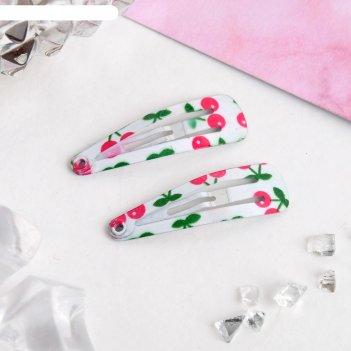Заколки для волос цветик вишенка (набор 12 шт.)