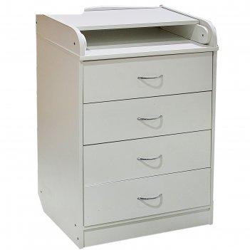 Пеленальный комод, 4 выдвижных ящика, цвет белый