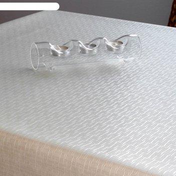 Клеенка столовая polyline, 140 см, рулон 15 п.м., plк253-wh джаспер белый