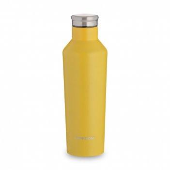 Бутылка для воды pure, объем: 0,8 л, материал: нержавеющая сталь, пластик,