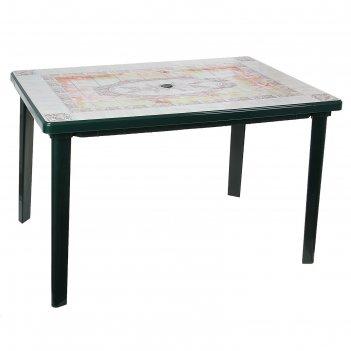 Стол верона прямоугольный размер 1200х850х750, цвет темно-зеленый