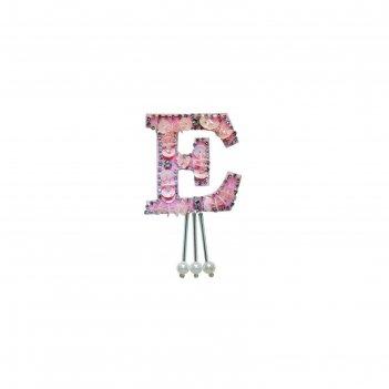 Аппликация «буква e», размер 7x5 см