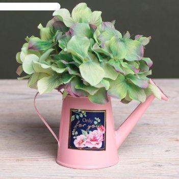 Металлическое кашпо для цветов «only for you», 15 х 7 см