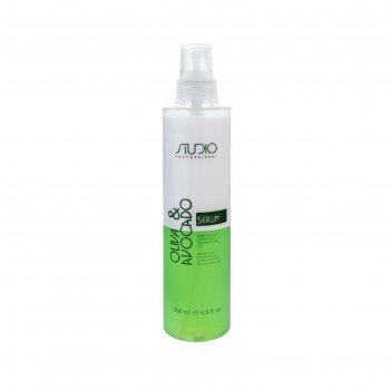 Двухфазная сыворотка для волос kapous, с масломи авокадо и оливы, 200 мл