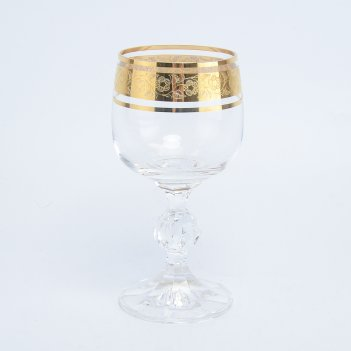 Набор бокалов для вина crystalex bohemia клаудиа золото (6 шт)