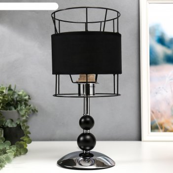 Настольная лампа 6504 1х60вт е27 черный/хром 18х38 см