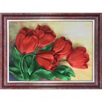 Набор для вышивки лентами «тюльпаны»