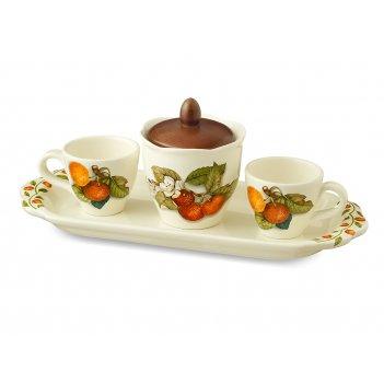 Кофейный сервиз 5 предметов  artigianato ceramico груша