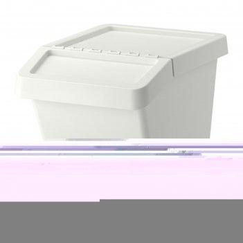 Бак мусорный сортера, 60 л, цвет белый
