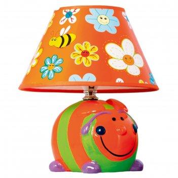 Настольная лампа веселье 1хe14 40вт оранжевый 20х20х24см.