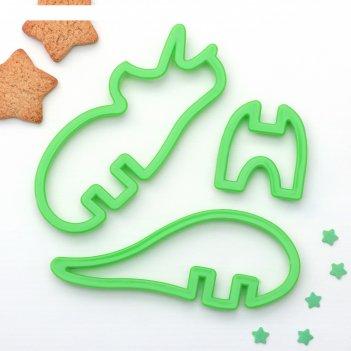 Набор форм для вырезания печенья 3d носорог, 3 шт