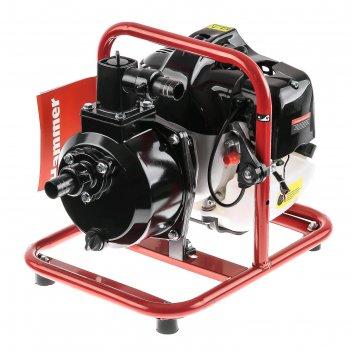 Мотопомпа hammer mtp165, 2т, 1.8 л.с., 1, 130 л/мин, глубина max 8 м, ручн