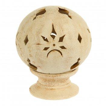 Садовый светильник шар шамот