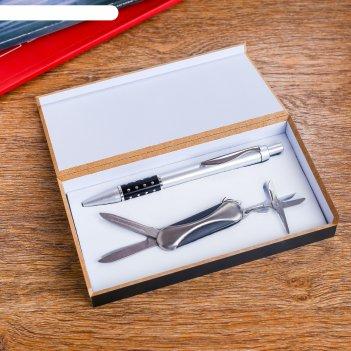 Набор подарочный 2в1 (ручка, нож 3в1)