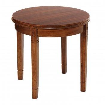 Столик кофейный круглый н-08, 590 х 590 х 580 мм, массив гевеи