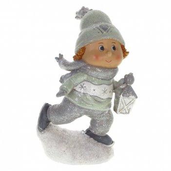 Фигурка декоративная ребёнок на коньках, l11 w7 h20,5 см