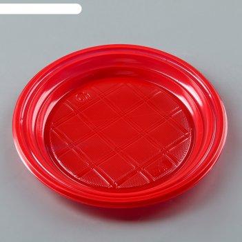 Тарелка десертная, d=165 мм(х2400) (красная) россия