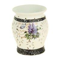 Ночник-арома настольный керамика от 220v лаванда 14х10,7х10,7 см
