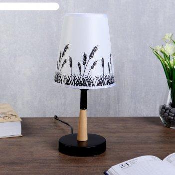 Лампа настольная колоски 1х40вт е27 черный 15х15х30 см.