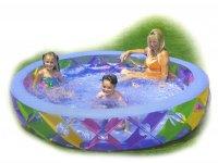 С56494, детский бассейн с надувным полом, intex