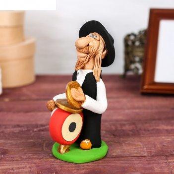 Статуэтка еврей - музыкант с барабаном