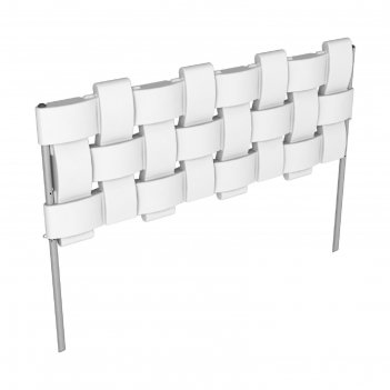 Ограждение декоративное, 98 x 38,5 см, flox, 4 секции, белое