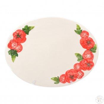 Поднос овальный annaluma томаты 31*24 см