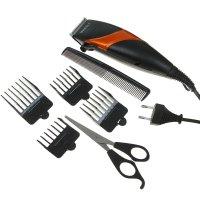Машинка для стрижки волос kelli kl-7009, 60 вт, 4 съемных гребня, микс