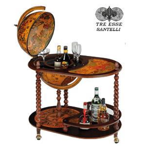 Глобус бар со столиком на витых ножках