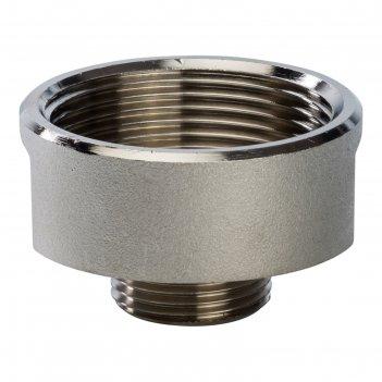 Переходник stout sft-0008-011234, никелированный, внутренняя/наружная резь