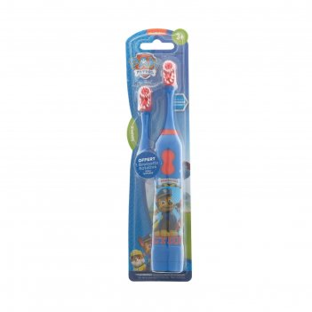 Зубная щётка paw patrol, вибрационная, мягкая, доп. насадка, 2хааа (в комп