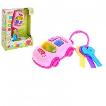 Крошка я игрушка музыкальная брелок-машинка, свет,звук  №sl-2183в
