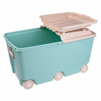Ящик для игрушек на колесах. цвет зеленый 431310909